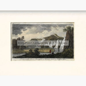 Antique Print A view on the river Manyfold at Wooton Mill,1776 Prints