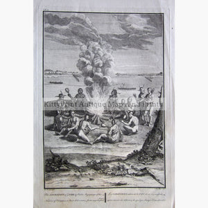 Antique Print Adoration of Fire 1734 Prints