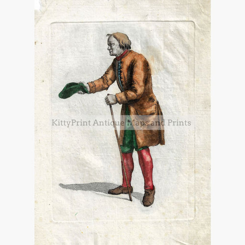 Antique Print Beggar c. 1750 Prints