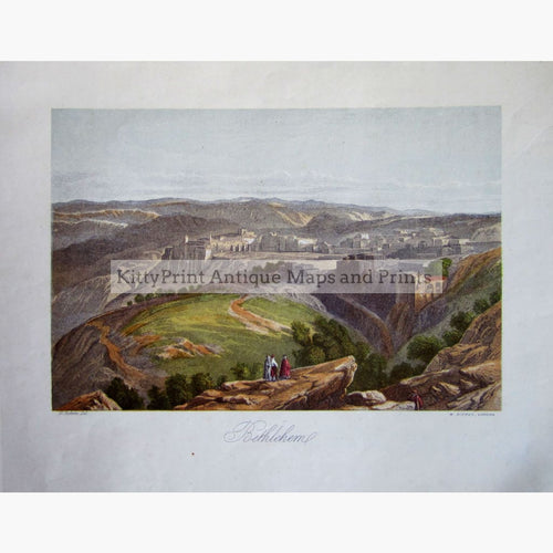 Antique Print Bethleham C.1860 Prints