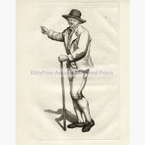 Antique Print Blind Man c.1750 Prints
