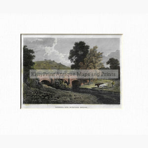 Antique Print Boxhill and Burford Bridge 1811 Prints