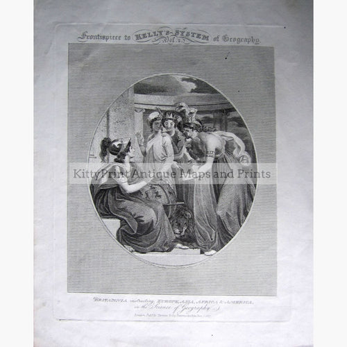 Antique Print Britannia instructing...1817 Prints
