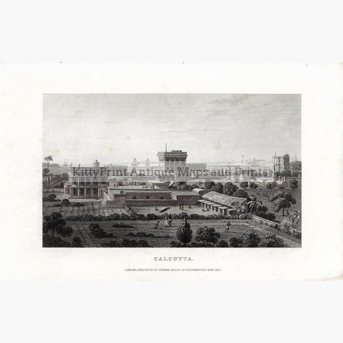 Antique print Calcutta,1837 Prints