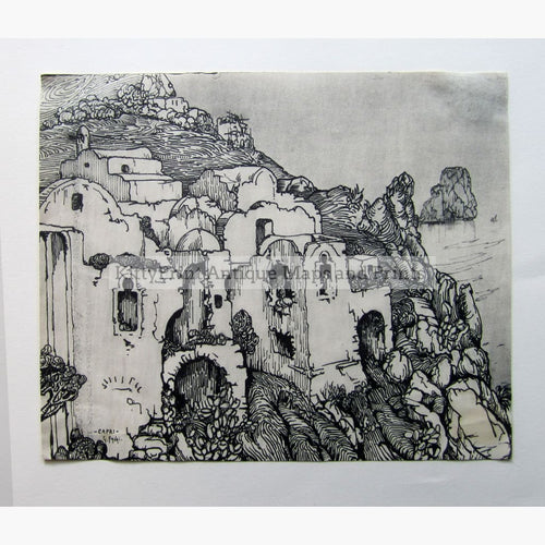 Antique Print Capri c.1930 Prints