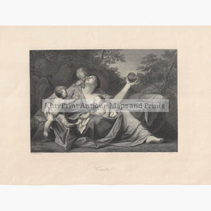 Antique Print Caritas c. 1840 Prints
