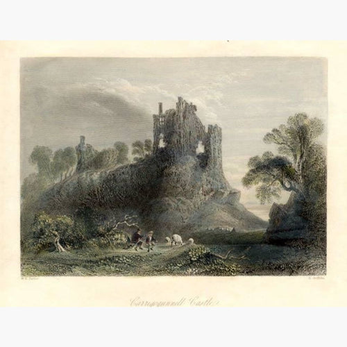 Antique Print Carrigogunnell Castle 1842 Prints
