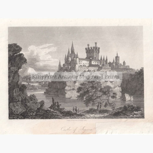 Antique Print Castle Of Segovia 1808 Prints