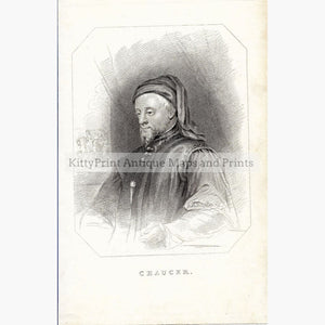 Antique Print Chaucer c.1840 Prints