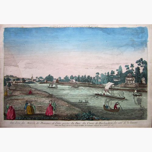 Antique Print Chiswick House 1760 Prints