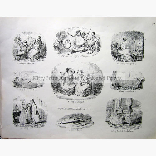Antique Print Christmas Comforts 1831 Prints