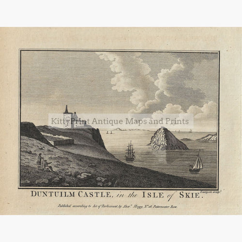 Antique Print Duntuilm Castle in the Isle of Skie 17860 Prints