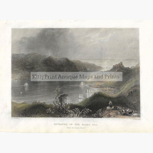 Antique Print Entrance to the Black Sea 1838 Prints