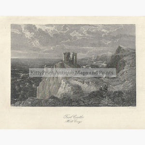 Antique Print Fast Castle Wolfs Crag 1832 Prints