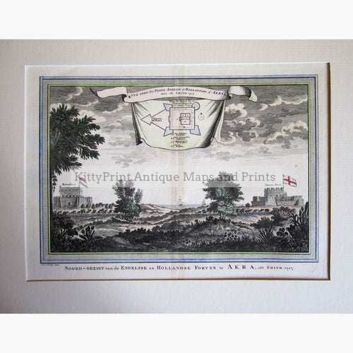Antique Print Fort Akra 1747 Prints