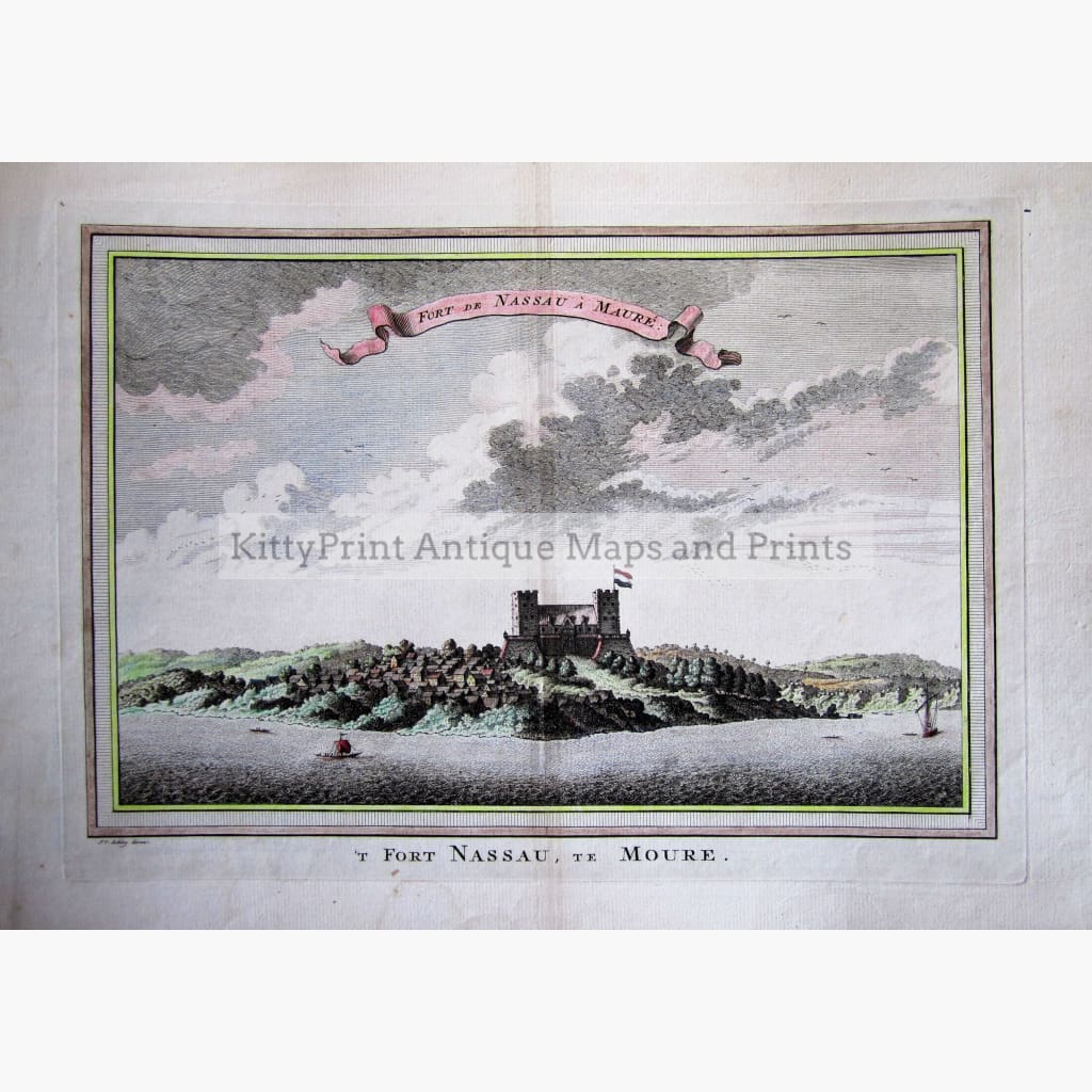 Antique Print Fort Nassau Moure 1747 Prints