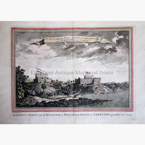 Antique Print Fort Sakkundi 1747 Prints