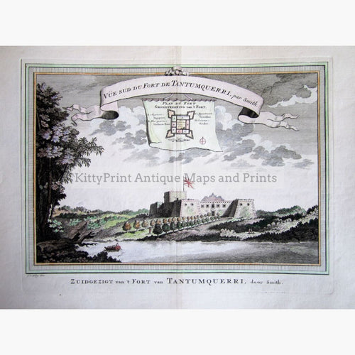 Antique Print Fort Tantumquerri 1747 Prints