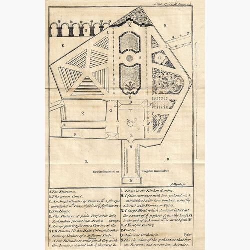 Antique Print Garden Design 1760 Prints