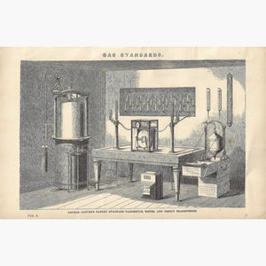 Antique Print Gas Standards 1880 Prints