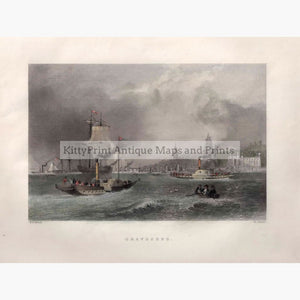 Antique Print Gravesend 1842 Prints