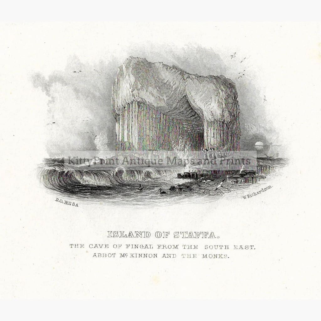 Antique Print Island of Staffa 1860 Prints