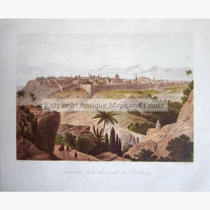 Antique Print Jerusalem From The Road To Bethany C.1860 Prints