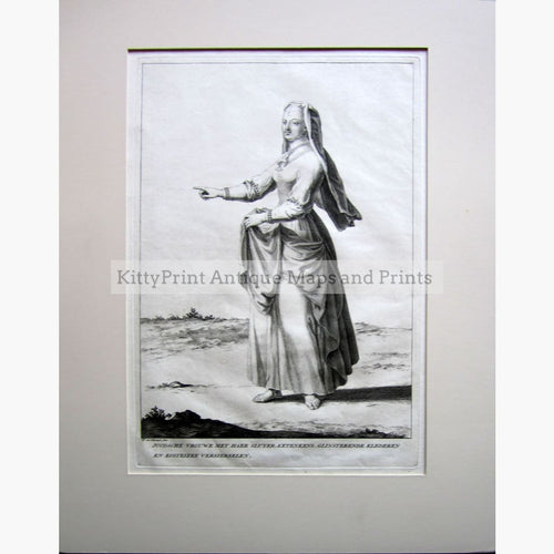 Antique Print Jewish Lady 1720 Prints