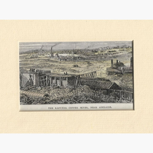 Antique Print,Kapunda Copper Mines,Adelaide 1886 Prints