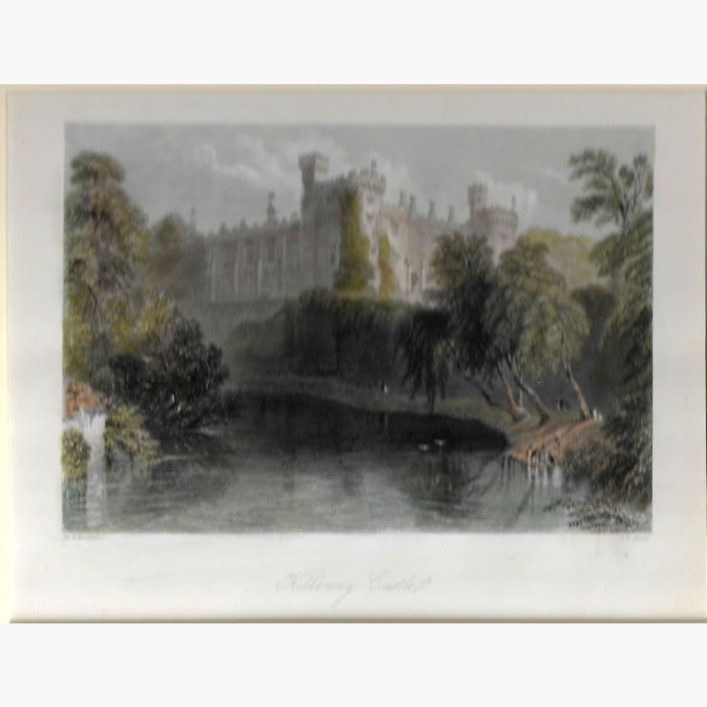 Antique Print Kilkenny Castle 1842 Prints