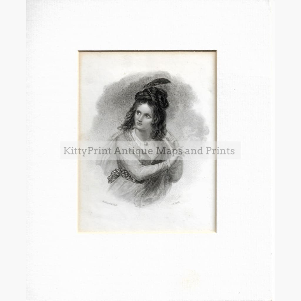 Antique Print Lady c.1840 Prints