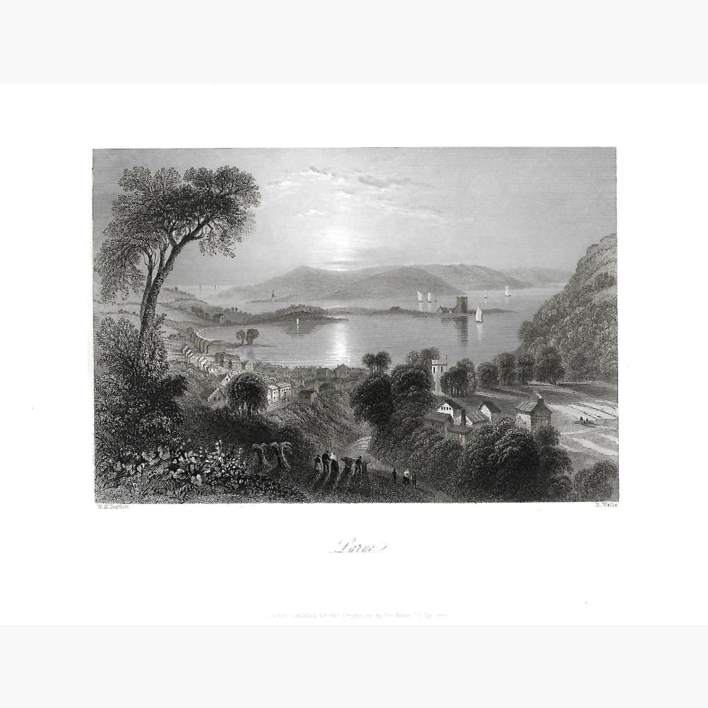 Antique Print Larne County Antrim 1842 Prints
