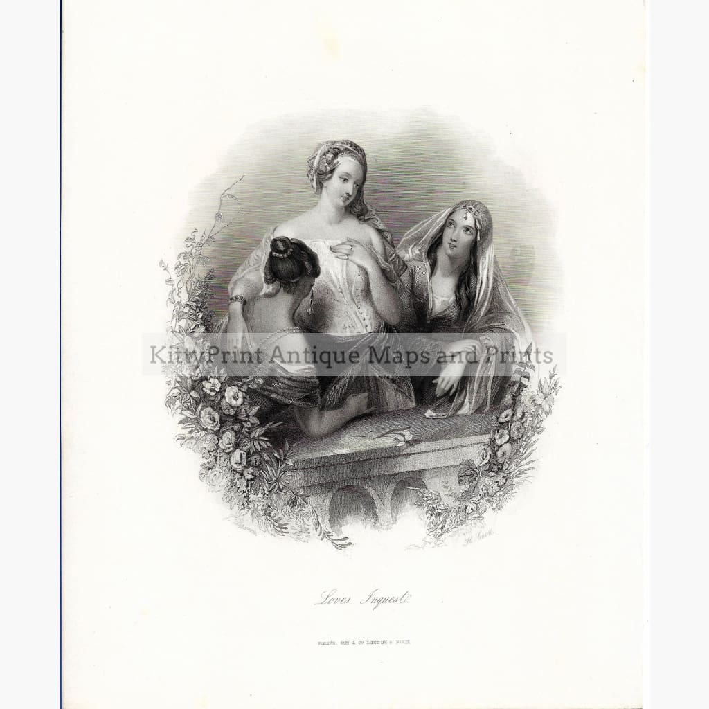 Antique print Loves Inquest c.1830 Prints