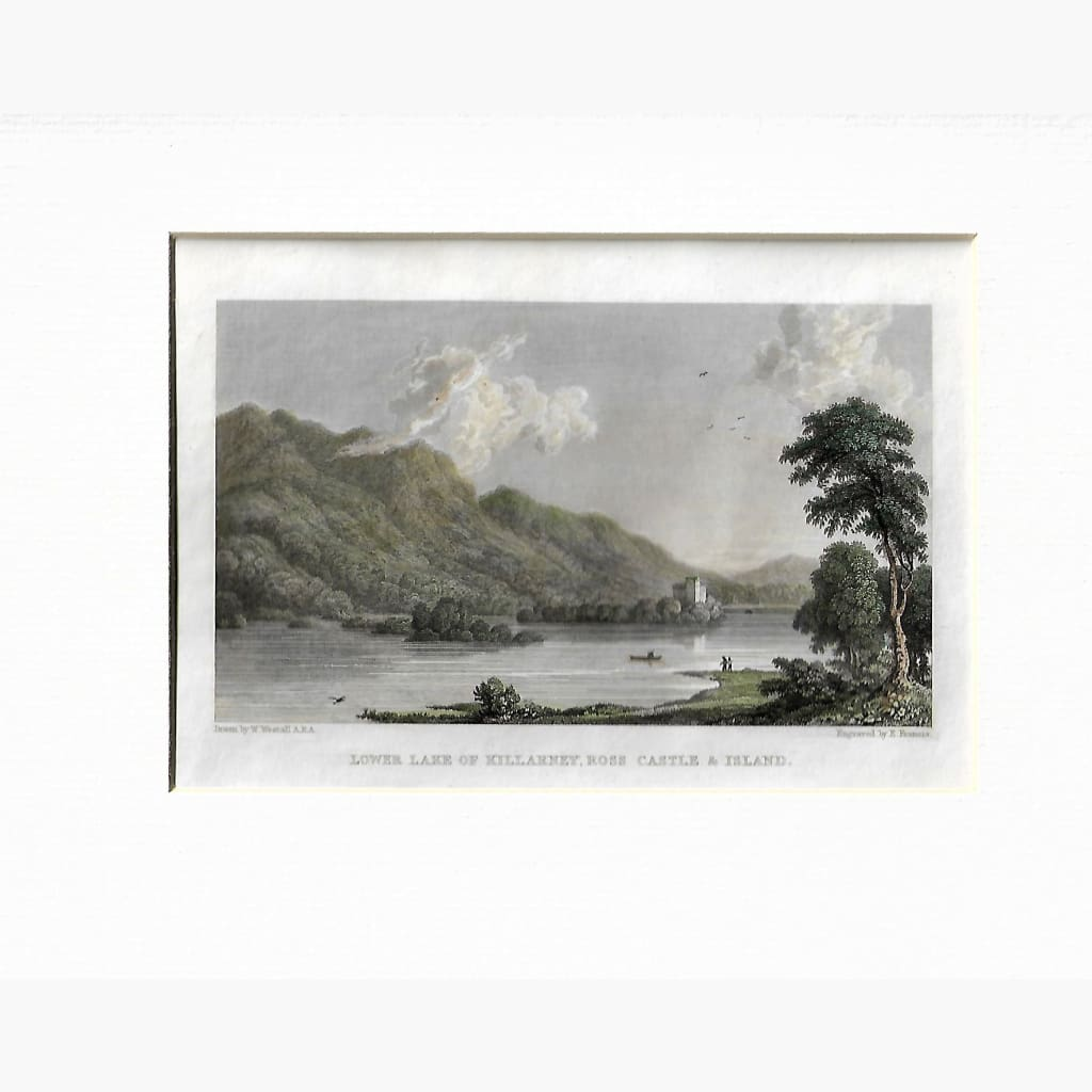 Antique Print Lower Lake Of Killarney Ross Castle 1834. Prints