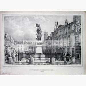 Antique Print Monument de Jeanne DArc c.1880 Prints