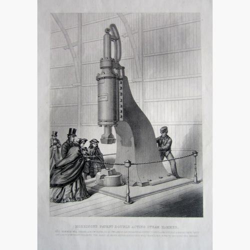 Antique Print Morrison's Patent Double Acting Steam Hammer 1842 Prints
