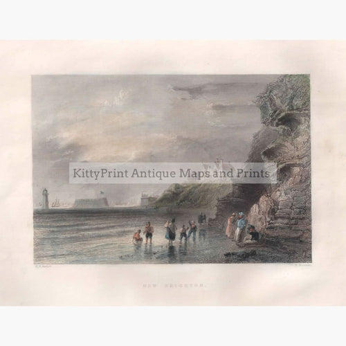 Antique Print New Brighton 1842 Prints