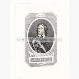 Antique Print Oliver Cromwell c.1840. Prints