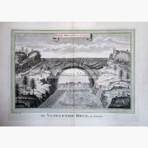 Antique Print Pont Volant Flying Bridge Kircher 1747 Prints