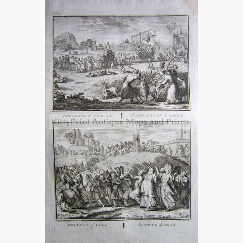 Antique Print Procession of Ganga 1734 Prints