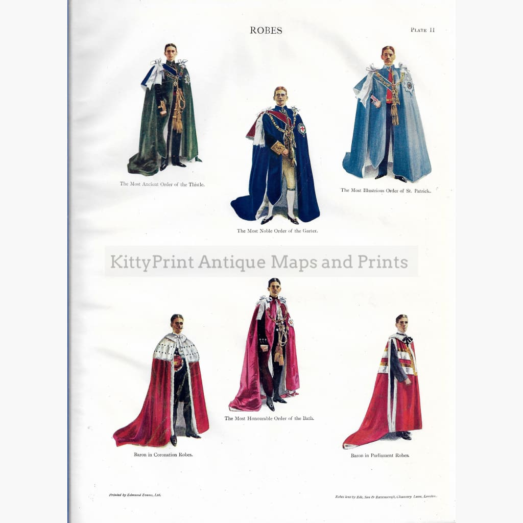 Antique Print Robes Plate 2 1910 Prints