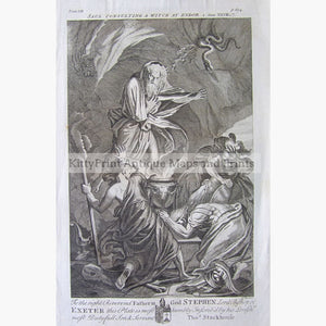 Antique Print Saul Consulting a Witch 1733 Prints