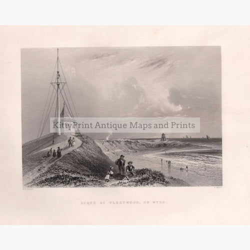 Antique Print Scene At Fleetwood On Wyre 1842 Prints