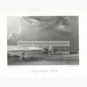 Antique Print Solway Firth From Allonby 1832 Prints