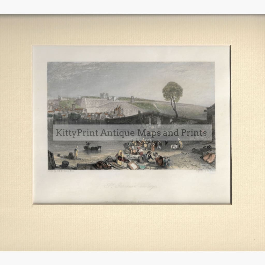 Antique Print St.Germain-en-Laye c.1840 Prints