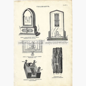 Antique Print Telegraph 1884 Prints