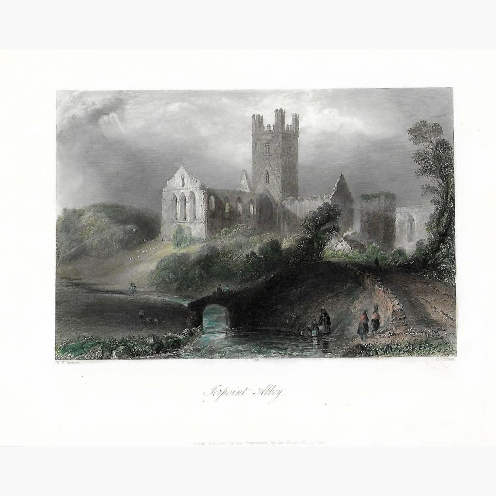 Antique Print Terpoint Abbey 1842 Prints