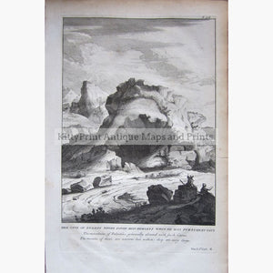 Antique Print The Cave of Engedi where David hid 1733 Prints