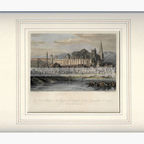 Antique Print The Great Mosque & Alcazor 1854 Prints