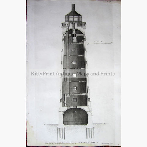 Antique Print The High Lighthouse 1784 Prints